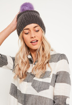 Missguided Grey Soft Knit Beanie