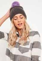 Missguided Soft Knit Beanie Grey