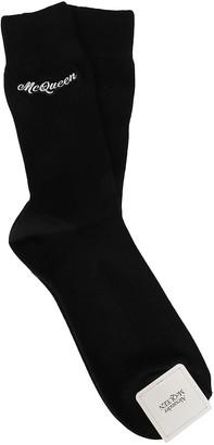 Alexander McQueen Black Cotton Socks