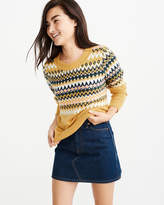 Abercrombie & Fitch A&F Women's Fair isle Crew Sweater in Yellow - Size L