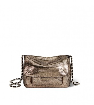 Jerome Dreyfuss Lulu Small Bag in Lame Champagne Goatskin