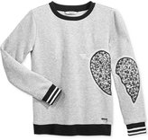 GUESS Sequin Heart Sweater, Big Girls (7-16)