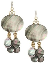 Nest Mother-Of-Pearl & 24K Goldplated Drop Earring