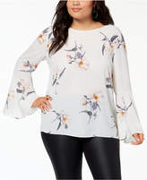 Soprano Trendy Plus Size Bell-Sleeve Blouse