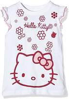 Hello Kitty Girl's Flowers Short Sleeve Crew Neck T-Shirt,(Manufacturer Size:X-Large)