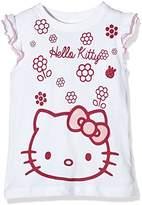 Hello Kitty Girl's Flowers Short Sleeve Crew Neck T-Shirt