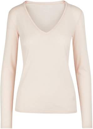 Majestic Filatures V-neck long-sleeved top