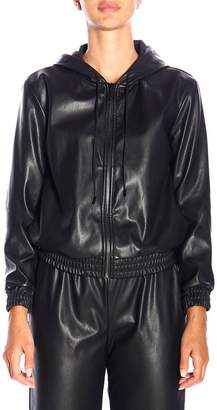 MICHAEL Michael Kors Jacket Bomber Jacket In Synthetic Leather With Hood