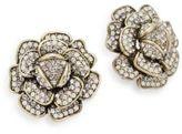 Heidi Daus Crystal Flower Earrings
