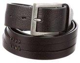 John Varvatos Black Leather Belt