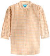 MiH Jeans M i H Cotton-Blend Check Button-Down