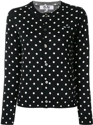 Comme des Garcons Polka-Dot Buttoned Cardigan