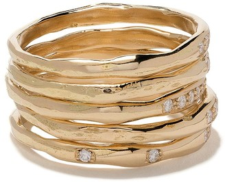 Wouters & Hendrix Gold 18kt yellow gold Diamond set of rings