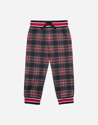 Dolce & Gabbana Jersey Jogging Pants With Check Print