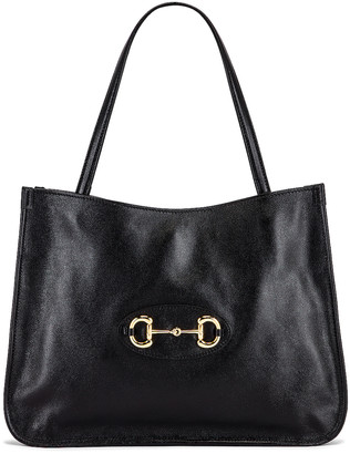 Gucci 1955 Horsebit Tote Bag in Black | FWRD