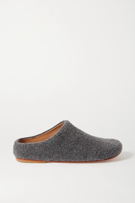 LAUREN MANOOGIAN Mono Alpaca-blend Slippers - Dark gray