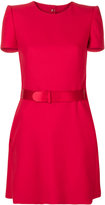 Alexander McQueen belted mini dress - women - Silk/Polyamide/Wool - 38