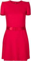 Alexander McQueen belted mini dress - women - Silk/Polyamide/Wool - 40