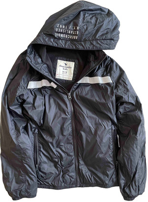 Abercrombie & Fitch Black Polyester Jackets & Coats