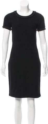 Chanel Embellished Wool Dress