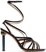 Jacquemus Black Pisa strappy leather sandals