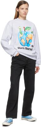 Online Ceramics Grey 'Worm Hearted' Sweatshirt