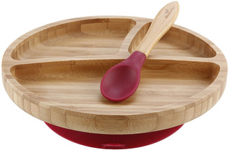 Avanchy Toddler's Bamboo Plate & Spoon Set