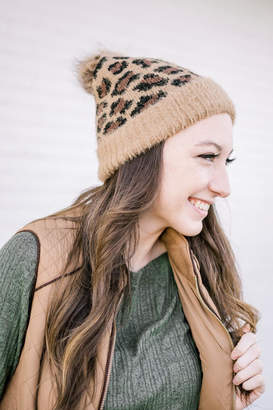 Girly Leopard Stocking Hat