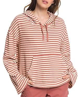 Roxy Get Casual Striped Hooded Sweatshirt
