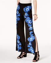 INC International Concepts Floral-Print Wide-Leg Pants, Created for Macy's