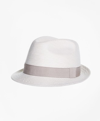 Brooks Brothers Linen Block Hat