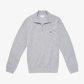 Lacoste Men's Regular Fit Half-Zip Cotton Sweater
