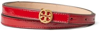 Tory Burch Patent Skinny Double 'T' Belt