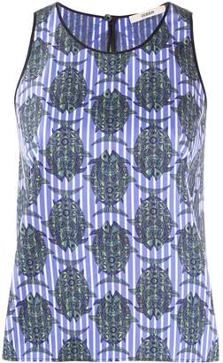 Odeeh fish-print sleeveless top