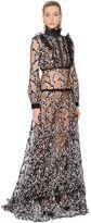 Giambattista Valli Swarovski & Lace Tulle Long Dress