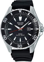 Pulsar Men's Solar Sport Black Strap Watch 44mm PX3037