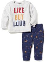 Old Navy 2-Piece Graphic Tee and Pants Set for Baby