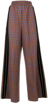 Golden Goose Deluxe Brand flared plaid trousers
