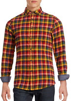 Hudson North Plaid Flannel Sport Shirt