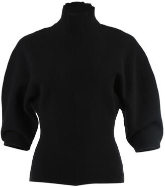 Acne Studios Black Mock Collar Knit Top