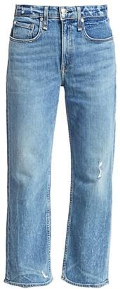 Rag & Bone Maya High-Rise Ankle Straight Jeans