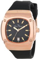 Lucien Piccard Women's LP-440-RG-01 Armada Black Textured Dial Black Silicone Watch