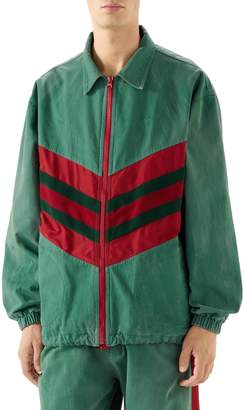 Gucci Web Stripe Oversize Denim Jacket