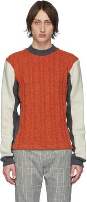 Woolmark Daniel W. Fletcher Orange Collection Panelled Cable Sweater