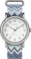 Timex Women's TW2R59200 Weekender 38 Fabric Slip-Thru Strap Watch