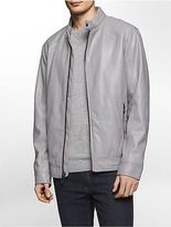 Calvin Klein Mens Faux Leather Smooth Jacket