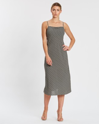 Mosaic Bias Slip Dress