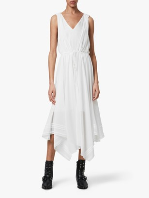 AllSaints Celeste Maxi Dress, Chalk White