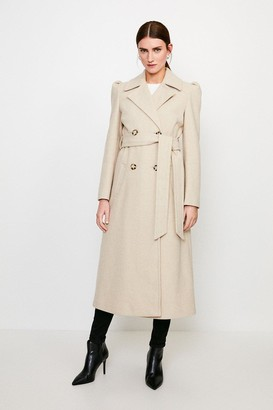 Karen Millen Belted Military Coat