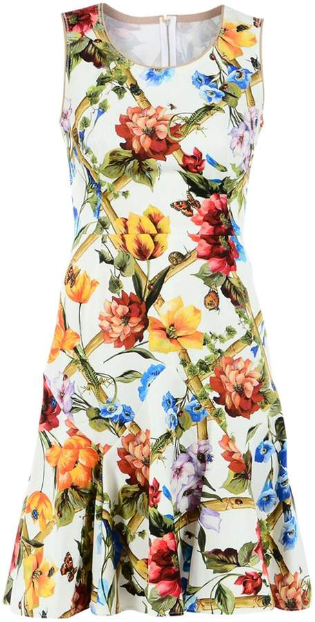 Dolce & Gabbana Dress In Printed Cotton Drill